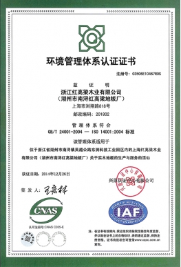 Environmental system certification